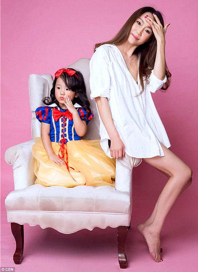 Granny: Pictured with her granddaughter, the woman is set to appear on a Chinese reality program today