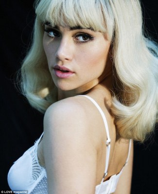 Blonde beauty! The star - who famously dated Bradley Cooper - put on an alluring display in the shoot as she channelled a retro starlet vibe for the sultry photoshoot and behind the scenes video clip