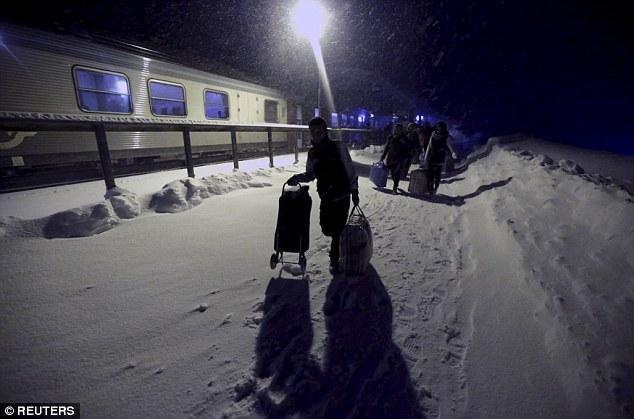 Las frías temperaturas invernales en Finlandia han sido una de las razones por las cuales los refugiados han decidido no quedarse en Finlandia