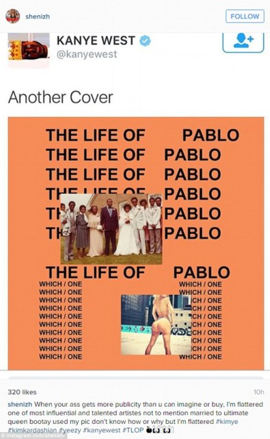 Kanye West Features A Model's Butt On His Album Cover,Kim