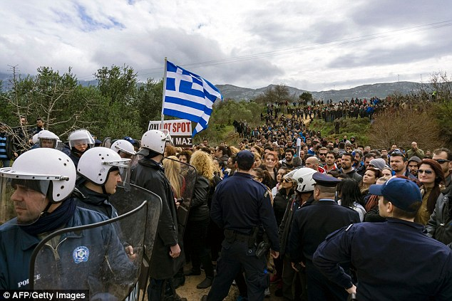 The Greek government is building five 'hotspots' to house and process migrants on the Aegean islands of Kos , Chios, Leros, Lesbos and Samos