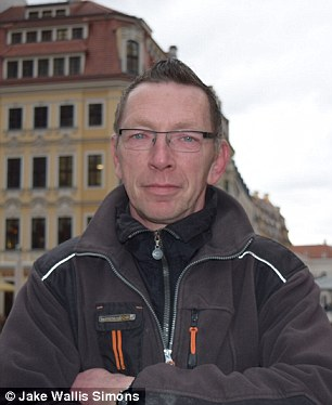 Whistle-blower: Rene Jahn, 50, defected from Pegida where he was one of the founder leaders