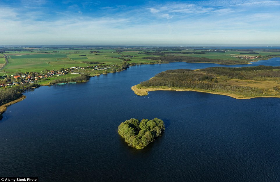 In Germany there is a heart-shaped island in Kleine Muritz Lake, perfect for lovers wanting to escape the hustle and bustle of the world