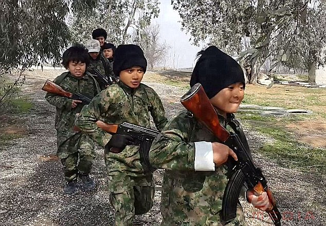 ISIS has shared propaganda videos showing young Malaysian children training with weapons in Syria