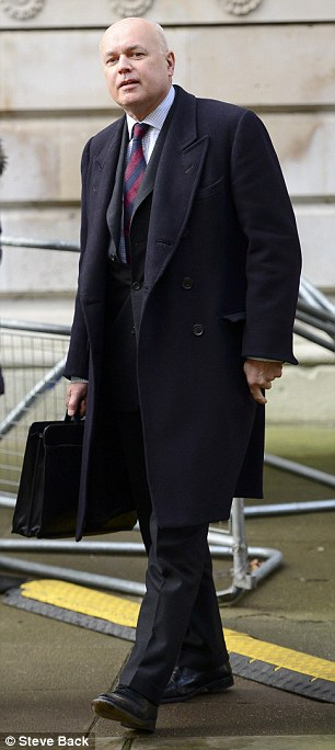 Iain Duncan Smith, Secretary of State for Work and Pensions, arriving at No 10 Downing Street on Saturday