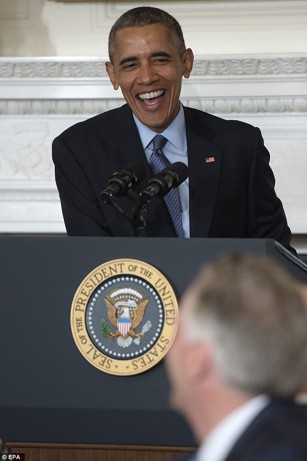 President Obama got the room laughing yesterday as he addressed the National Governors Association and bemoaned 'appointing judges' - a crack that conservatives thought was aimed, disrespectfully, at Scalia