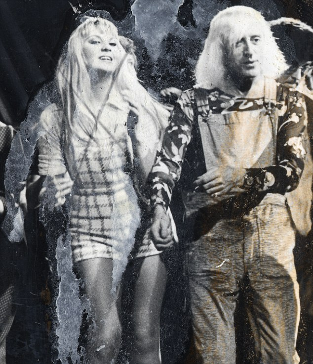 Claire McAlpine, pictured left, with Jimmy Savile on Top of the Pops, had written a diary before taking her life