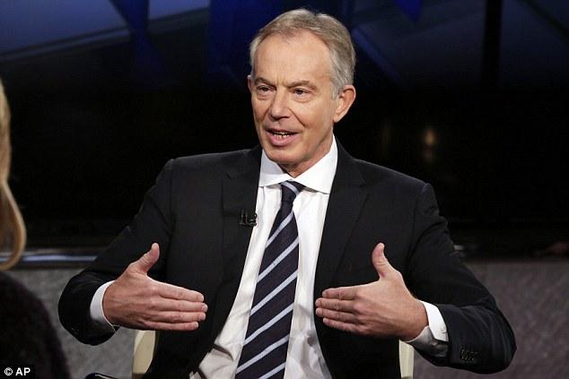 Blair refused to create a Cabinet committee dedicated to immigration or to appoint a specialist adviser until midway in his premiership. Pictured: Blair being interview in February 2016