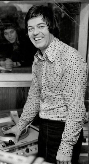 Blackburn pictured at the BBC in the 1970s shortly before his wedding to Tessa Wyatt