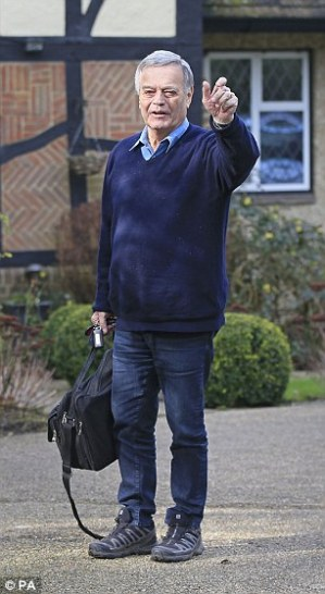 Tony Blackburn pictured at his Hertfordshire home after his BBC sacking