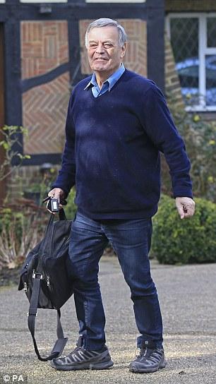 Sacked: Veteran BBC DJ Tony Blackburn, pictured outside his home on Thursday