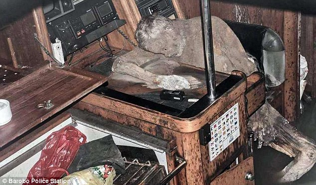 The mummified body of Manfred Fritz Bajorat was found aboard his yacht, drifting in the  Pacific Ocean off the coast of Barobo town in Surigao del Sur