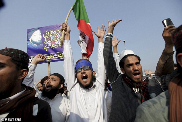 Riot police were deployed in the nearby capital Islamabad as officials braced for protests from hardliners