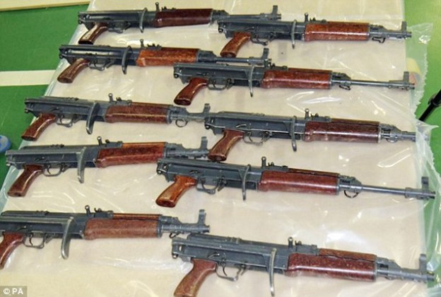 Image result for 61 riffles, pistols from suspects in Kano