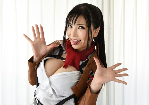 Japan's porn industry is worth up to 500 billion yen (more than £3billion). Some porn actresses can become stars such as Anri Okita (stock image)