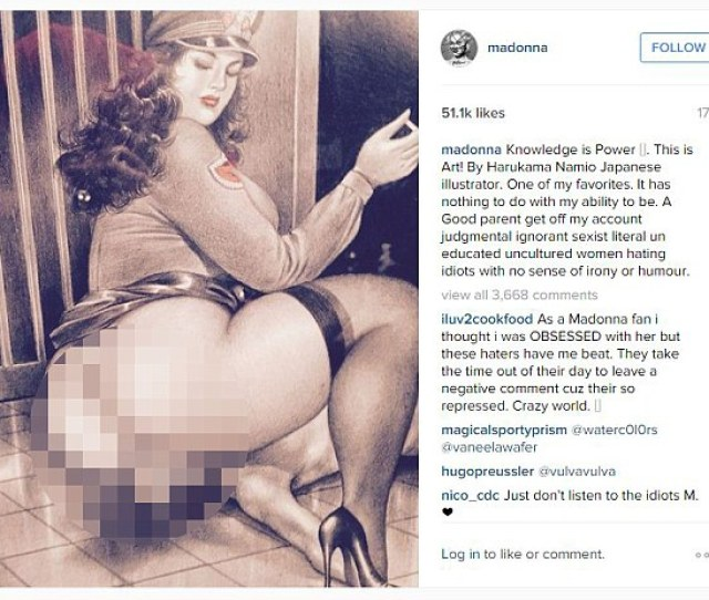 Madonna Posted A String Of Explicit Posts To Her Instagram Yesterday Prior To Her Custody Battle