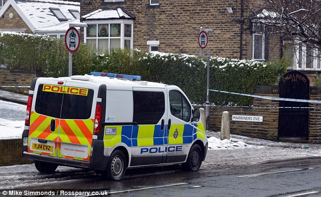 Custody: A 52-year-old woman has been arrested on suspicion of wounding with intent and a weapon has been recovered from the scene of the attack in Bradford, pictured