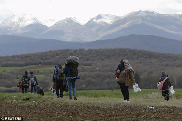 The news comes as Greek's Prime Minister Alexis Tsipras accused Austria and other Balkan countries of 'ruining Europe'