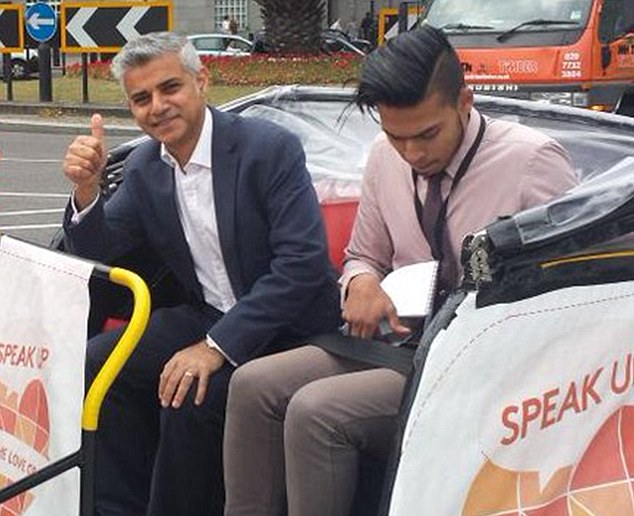 Sadiq Khan (left) suspended Shueb Salar (right) over a series of tweets in which he made reference to 'hoes', 'f***ing faggots'