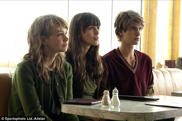 Clones: Andrew Garfield, Keira Knightley and Carey Mulligan in the film