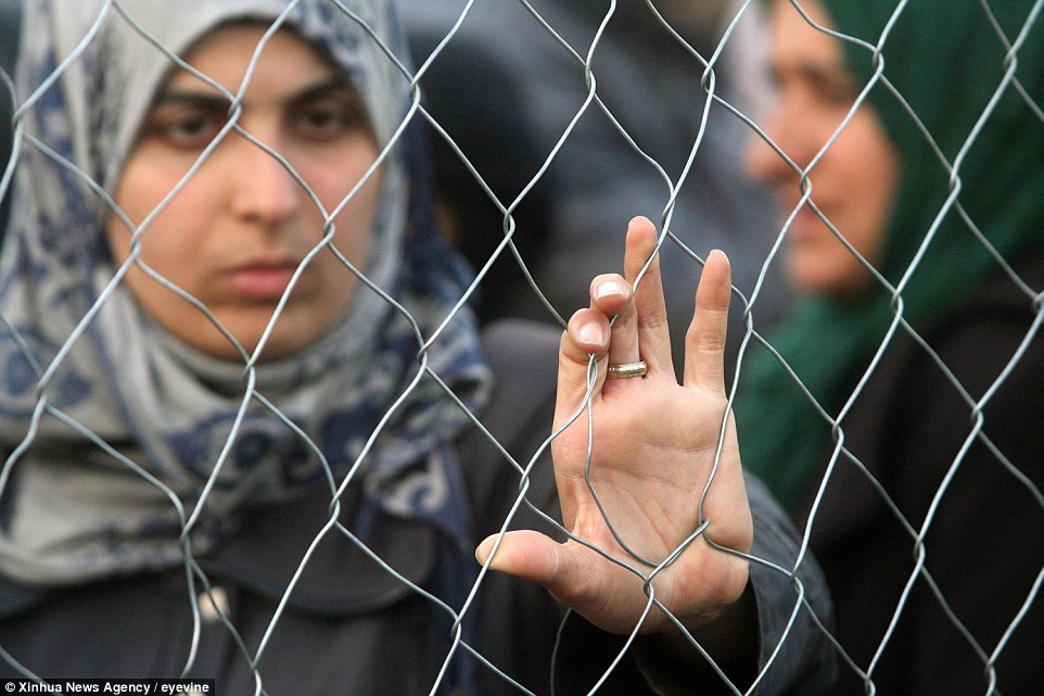 Kept out: EU leaders are expected to declare the main Balkan migrant route closed, after Macedonia – backed by Austria, Croatia, Slovenia and Hungary – limited border crossings to a trickle. They will also push for Turkey to take back tens of thousands of migrants
