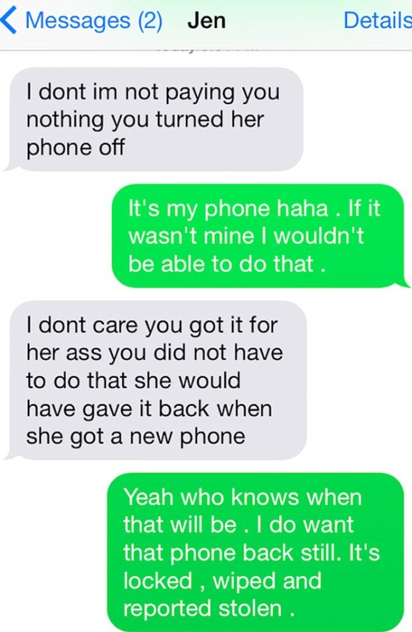 Changing tack: The man contacted his ex-girlfriend's mom who refused to pay him money
