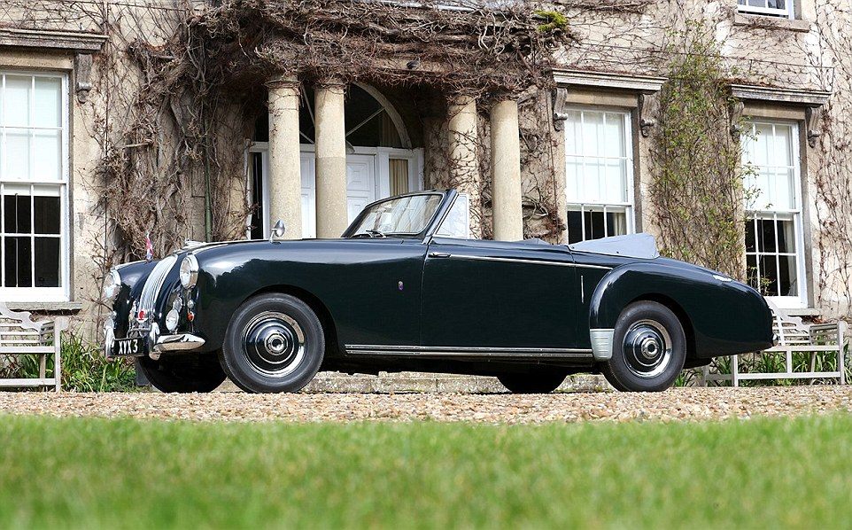 Prince Philips 1954 Aston Martin With Bond Style Gadgets Up For Auction Daily Mail Online