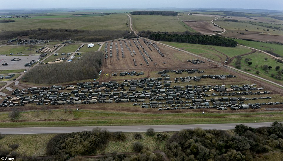 Over 1800 Take Part In Training On Salisbury Plain To