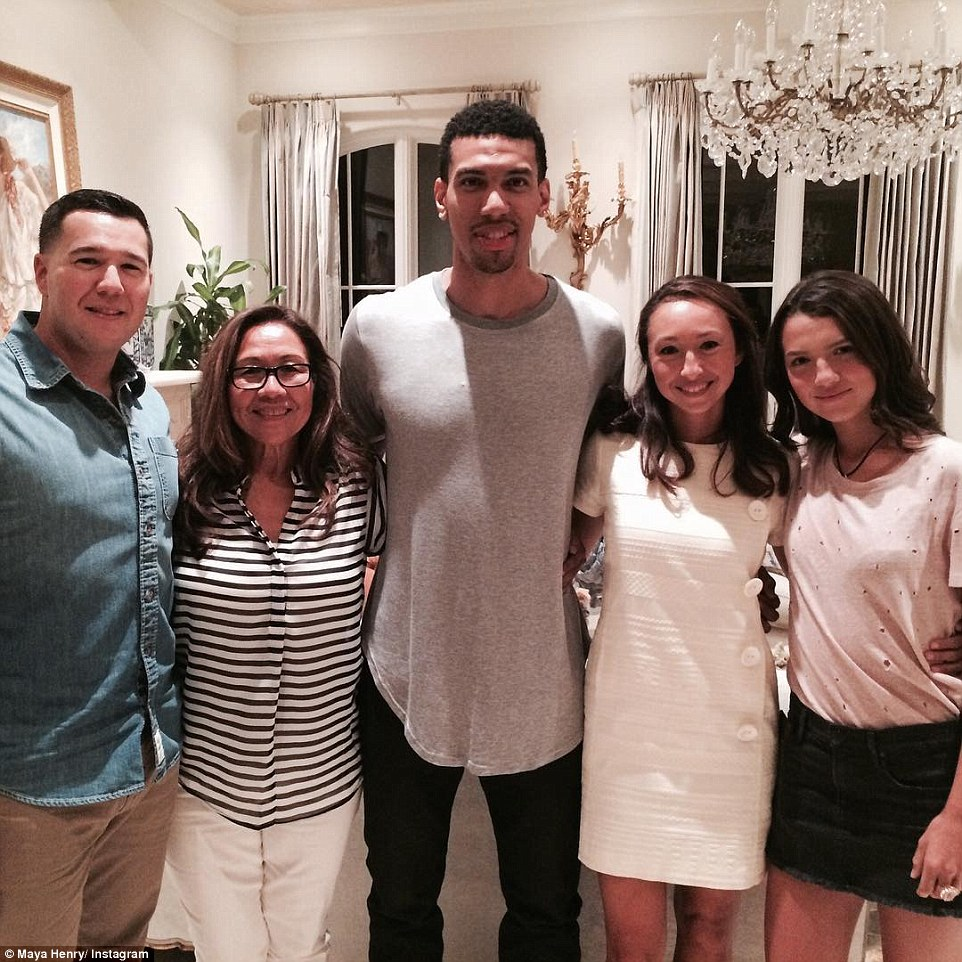 Dinner time: Local celebrity San Antonio Spurs star Danny Green, 28, visited Maya's family home not long ago in order to enjoy dinner