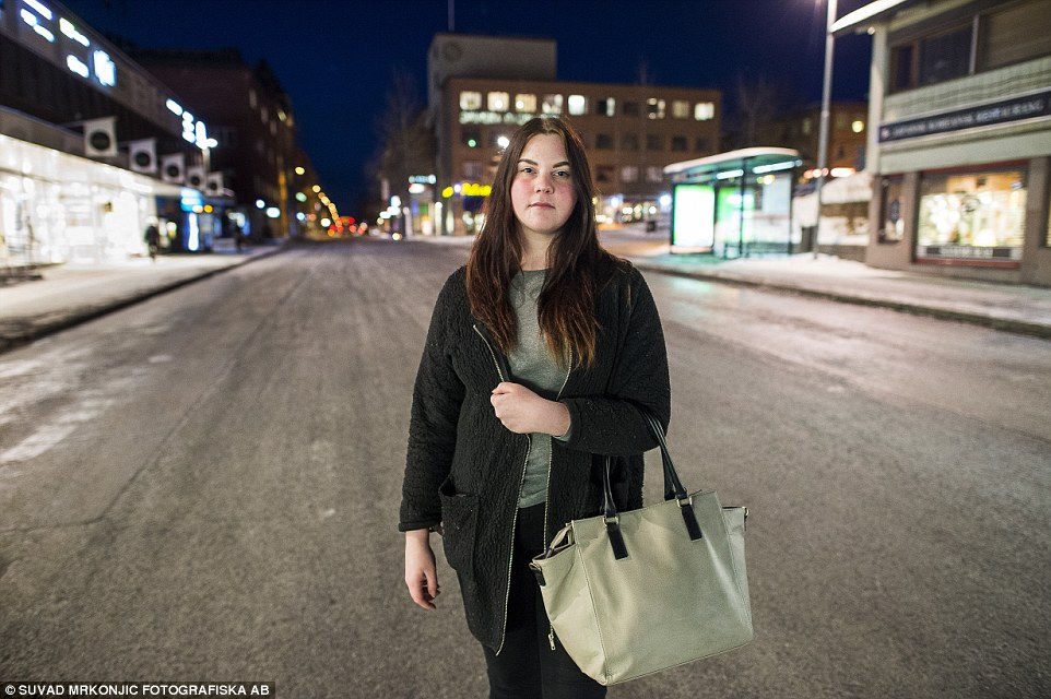 'Terrifying': Sofia Backstrom, 19, said it was 'both annoying and terrifying' that there are so many attacks on women with eight in the last three weeks alone