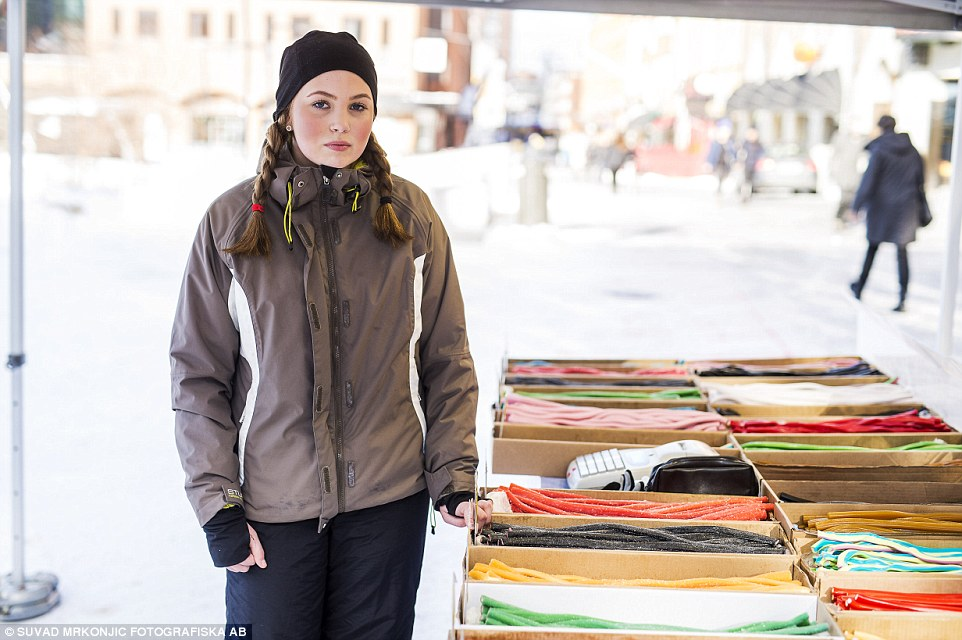 Concern: Josefine Larsson, 16, told MailOnline it was 'really worrying' the streets were no longer safe after dark and she hoped police would arrest the 'psychopaths' responsible for the string of horrific crimes