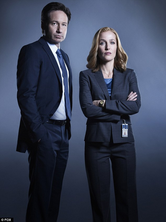 Much-loved characters: David and Gillian as FBI Special Agents in The X Files