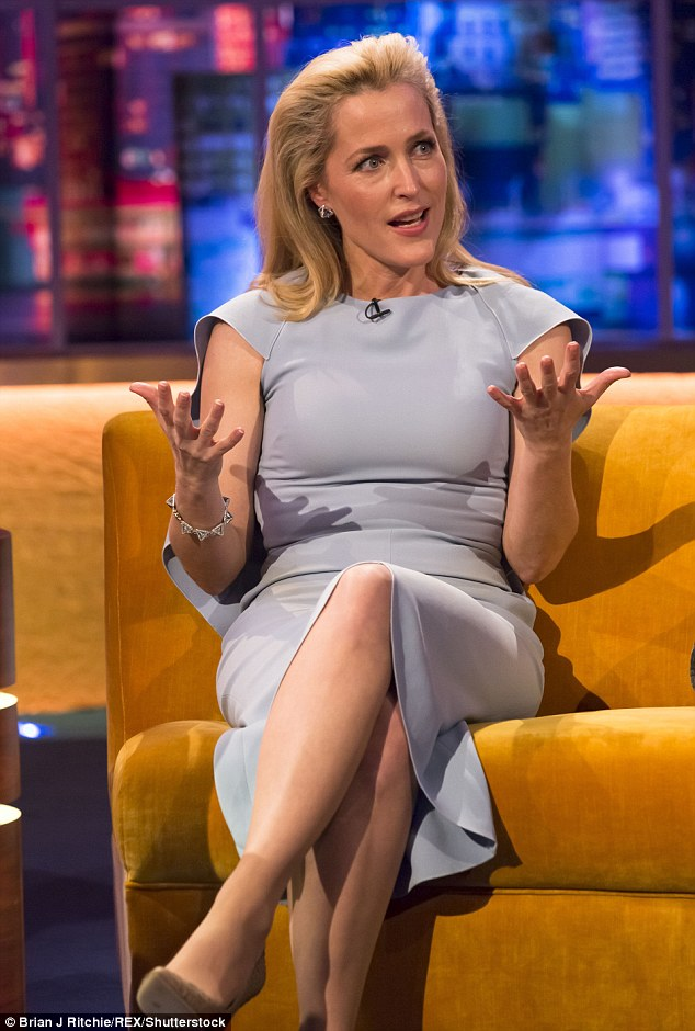 Telling all: Gillian Anderson talked pay inequalities and the future of The X Files during her appearance on The Jonathan Ross Show which airs on Saturday