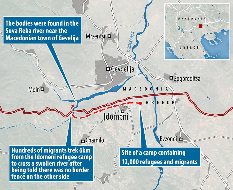 Alrededor de 1.000 inmigrantes, incluyendo mujeres y niños realizado travesías de 6 km de río y se les dijo que no había valla en el otro lado