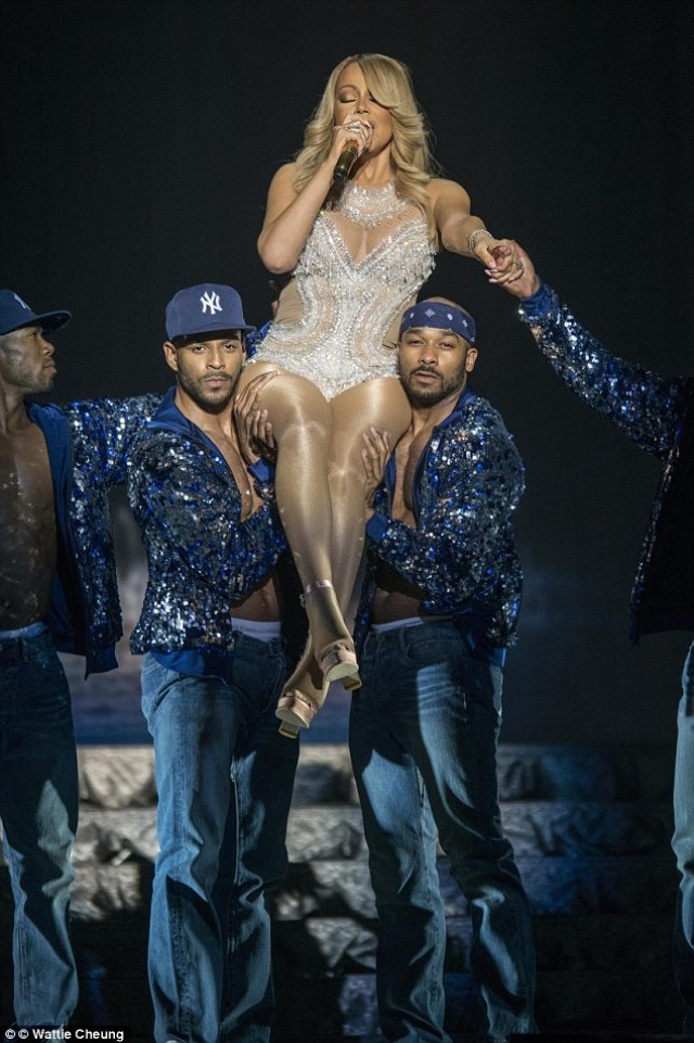 Diva style: The 45-year-old singer wowed the crowd as she performed the latest leg of her Sweet Sweet Fantasy tour at the SSE Hydro in Scotland