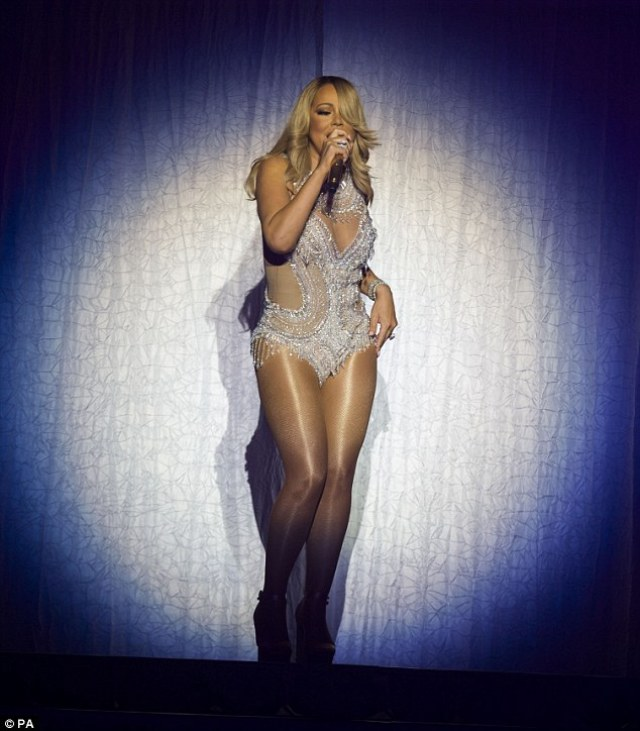 Spotlight: Mariah sported glamorous make-up as she treated her Scottish fans to her famous tunes