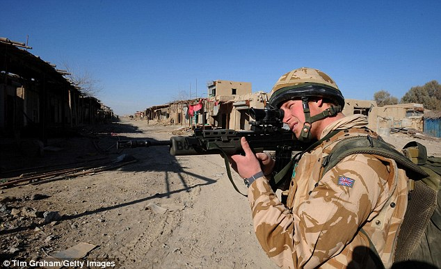 Prince Harry was withdrawn after just ten weeks in Afghanistan amid safety concerns when news of his secret deployment was leaked in the media. Pictured above, he is pictured in Helmand Province in January 2008