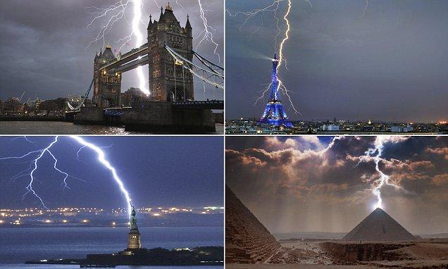Eiffel Tower And Statue Of Liberty Among World Landmarks