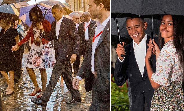 Obama becomes first President to set foot in Cuba for NINE DECADES