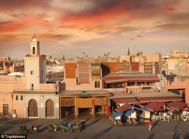 The enchantment of Marrakech in Morocco helped it take the third spot in the top ten list