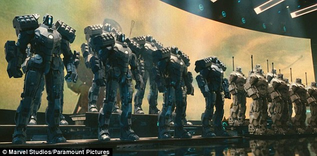 The military robots in Marvel¿s Iron Man 2 (pictured) might not be so far from reality. And experts say it is crucial that the members agree to start a formal process on lethal autonomous weapons systems in 2017. Disarmament law provides precedent for requiring human control over weapons