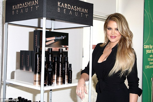 Hair care: Khoe is shown in April 2015 promoting Kardashian Beauty hair care in Los Angeles