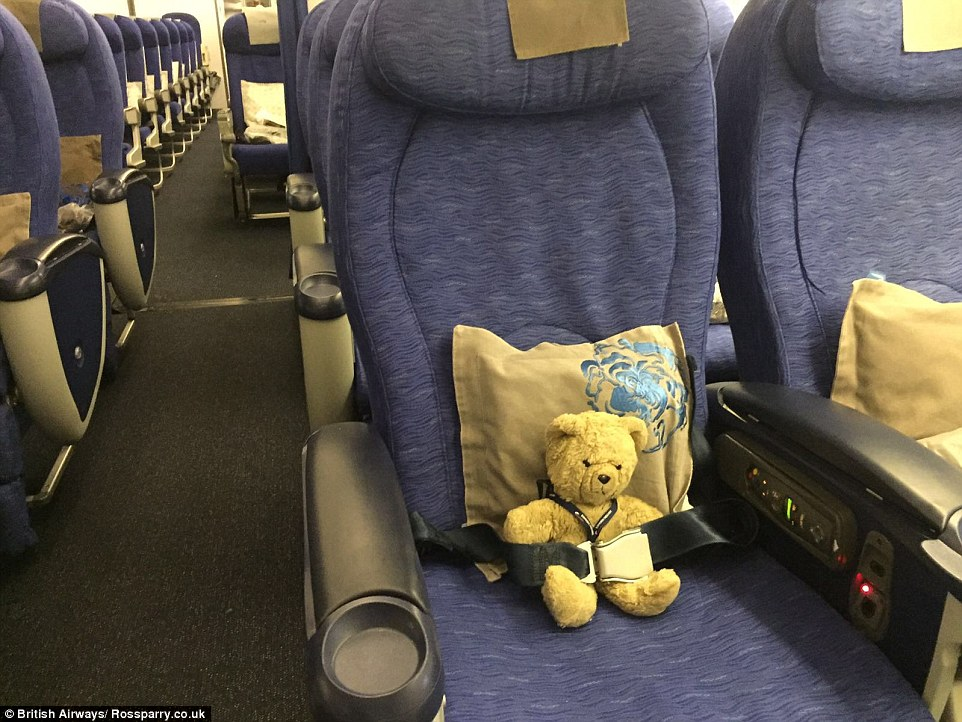 British Airways team behind the find took pictures of Pooh's journey home and made them into a book for Woody to keep