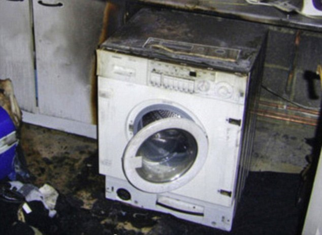 Disaster: A burnt-out washing machine in Cheshunt, Herts.The Chief Fire Officers Association says it was never consulted on plans to offer all families cheaper energy during the night