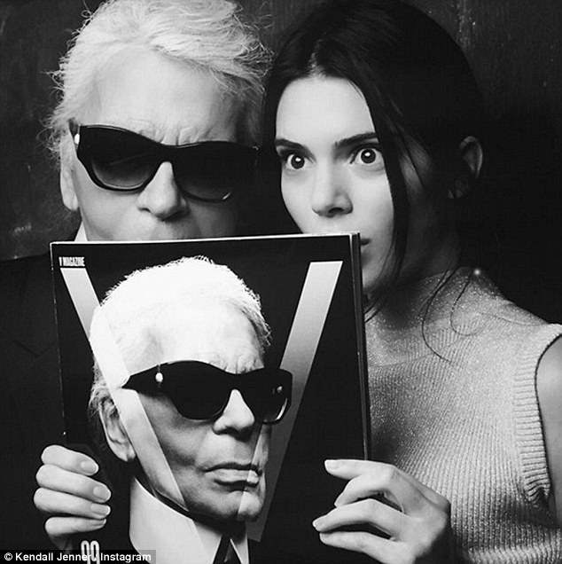 'She is not at all spoiled by those superficial successes':The 20-year-old, of course, already as celebrity and is one of fashion's biggest stars, with the conic Karl Lagerfeld (pictured January) heaping praise on the star
