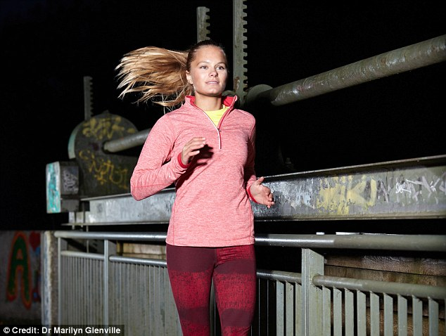 Running should be reserved for the morning, as doing so just before bed could 'make your adrenaline, heart and respiratory rates pump, meaning you¿ll find it harder to sleep' - stick instead to gentler activities