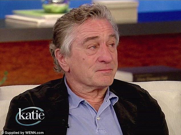 Rober De Niro crying