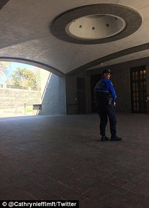 US Capitol underground security entrance