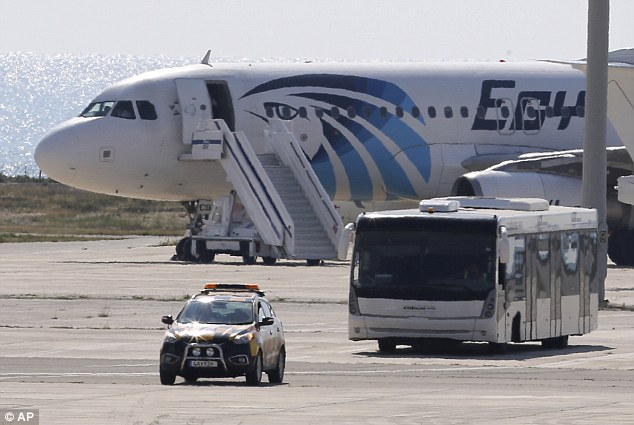 The hijacker, believed to be a 27-year-old Egyptian national, continues to hold the crew and four passengers of unknown nationalities hostage on the tarmac