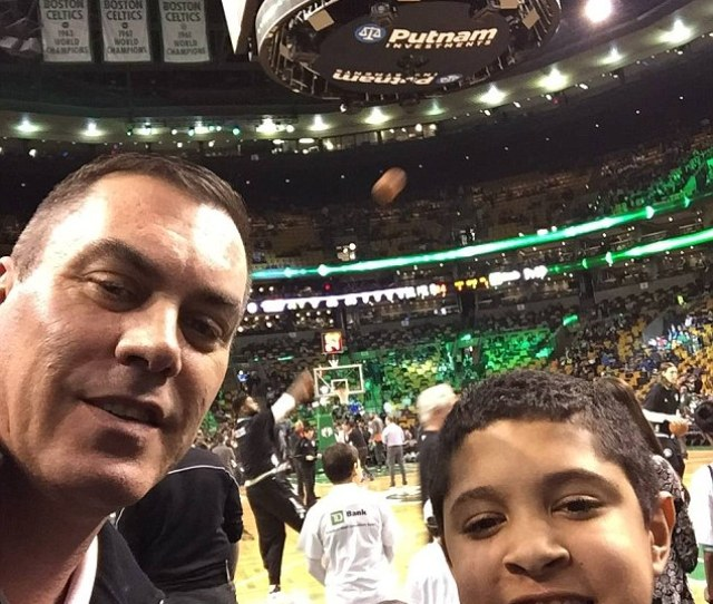 Hartnett Pictured With Timothy At A Boston Celtics Game Was Vice President Of Retail